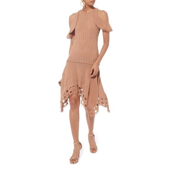 [Jonathan Simkhai] crochet handkerchief hem dress